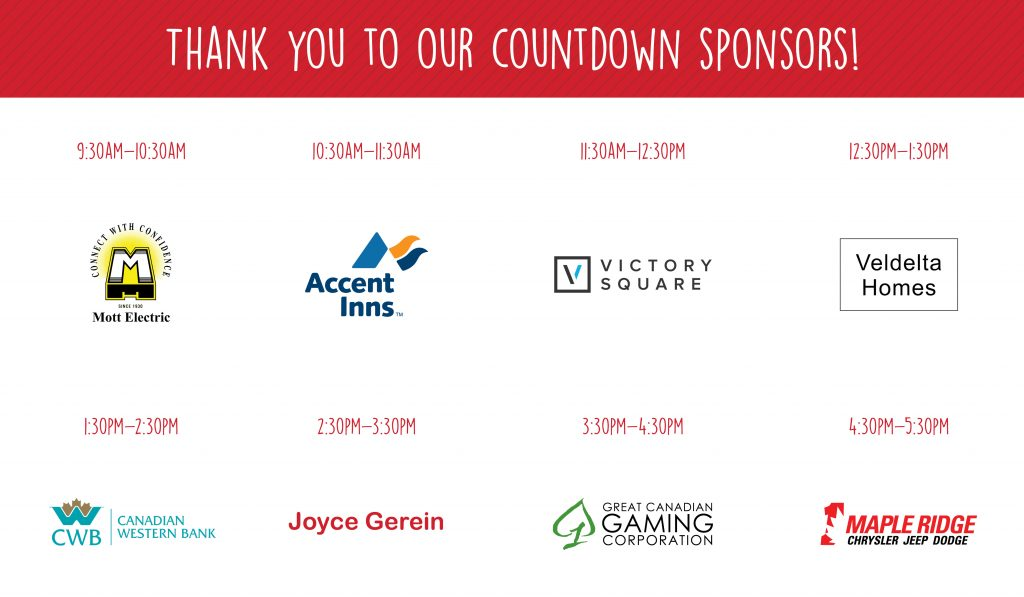 Thank You to our Countdown Sponsors